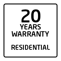20 years residential warranty